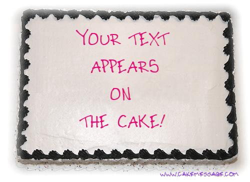 Custom Cake Message Maker